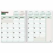 Blueline® DuraGlobe 14-Month Planner, Hard Cover, 11 x 8-1/2, Black, 2016