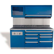 "Rousseau Metal GT Workcenter GT-C1052S_055, One Tool Box, 72""W, Avalanche Blue"