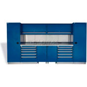 "Rousseau Metal GT Workcenter GT-C2036S_051, Two Tool Boxes, 144""W, Everest Blue"
