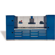 "Rousseau Metal GT Workcenter GT-C2037S_052, Two Tool Boxes, 144""W, Classic Blue"