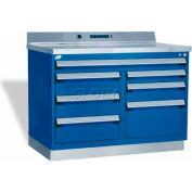 "Rousseau Metal Workbench W/Multi-Drawer Tool Box GT-XHG0002S_071, 1 Tool Box, 48""W, Light Gray"