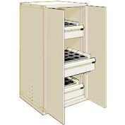 "3 Drawer Tool Storage Cabinet for Taper 40 - 30""Wx27""Dx60""H Beige"