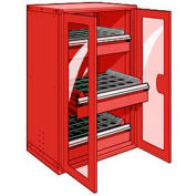 "3 Drawer Tool Storage Cabinet for Taper 40 - 36""Wx24""Dx60""H Red"