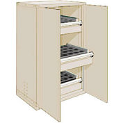 "3 Drawer Tool Storage Cabinet for Taper 40 - 36""Wx24""Dx60""H Beige"