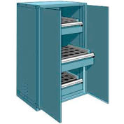 """3 Drawer Tool Storage Cabinet for Taper 40 - 36""""Wx24""""Dx60""""H Everest Blue"""