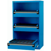 """3 Drawer Tool Storage Cabinet for Taper 50 - 36""""Wx18""""Dx60""""H Avalanche Blue"""