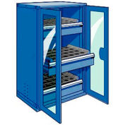 """3 Drawer Tool Storage Cabinet for Taper 50 - 36""""Wx24""""Dx60""""H Avalanche Blue"""