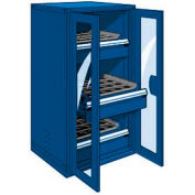 """3 Drawer Tool Storage Cabinet for HSK 50 - 30""""Wx27""""Dx60""""H Avalanche Blue"""