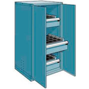 "3 Drawer Tool Storage Cabinet for HSK 50 - 30""Wx27""Dx60""H Everest Blue"