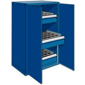 "3 Drawer Tool Storage Cabinet for HSK 50 - 36""Wx24""Dx60""H Avalanche Blue"