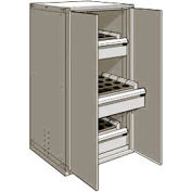 "3 Drawer Tool Storage Cabinet for HSK 63 - 30""Wx27""Dx60""H Light Gray"
