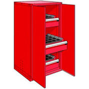 "3 Drawer Tool Storage Cabinet for HSK 63 - 30""Wx27""Dx60""H Red"