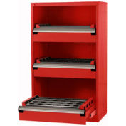 "3 Drawer Tool Storage Cabinet for 50 KM - 36""Wx24""Dx60""H Red"