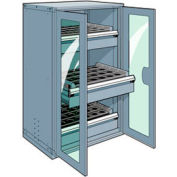 """3 Drawer Tool Storage Cabinet for 50 KM - 36""""Wx24""""Dx60""""H Everest Blue"""