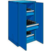 "3 Drawer Tool Storage Cabinet for 63 KM - 30""Wx27""Dx60""H Avalanche Blue"