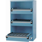 """3 Drawer Tool Storage Cabinet for 63 KM - 36""""Wx24""""Dx60""""H Everest Blue"""