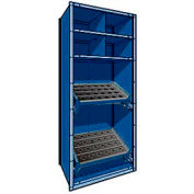 """Shelving for Taper 40 - 36""""Wx18""""Dx87""""H Avalanche Blue"""