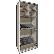 "Shelving for Taper 40 - 36""Wx24""Dx87""H Light Gray"