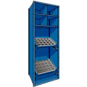 """Shelving for Taper 50 - 30""""Wx24""""Dx87""""H Avalanche Blue"""