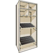 "Shelving for Taper 50 - 36""Wx24""Dx87""H Beige"
