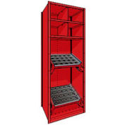 "Shelving for HSK 50 - 30""Wx24""Dx87""H Red"