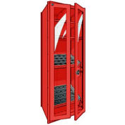 "Shelving for 50 KM - 30""Wx24""Dx87""H Red"