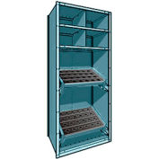 """Shelving for 50 KM - 36""""Wx24""""Dx87""""H Everest Blue"""