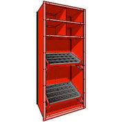 "Shelving for 50 KM - 36""Wx24""Dx87""H Red"
