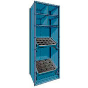 """Shelving for 63 KM - 30""""Wx24""""Dx87""""H Everest Blue"""