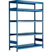 """5 Shelf High-Density Storage for Taper 40 - 60""""Wx18""""Dx87""""H Avalanche Blue"""