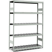 "5 Shelf High-Density Storage for Taper 40 - 60""Wx18""Dx87""H Light Gray"