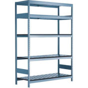 "5 Shelf High-Density Storage for Taper 40 - 60""Wx24""Dx87""H Everest Blue"