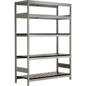"5 Shelf High-Density Storage for Taper 40 - 60""Wx24""Dx87""H Light Gray"