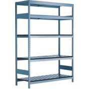 """5 Shelf High-Density Storage for Taper 40 - 72""""Wx24""""Dx87""""H Everest Blue"""