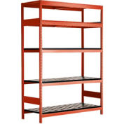 """5 Shelf High-Density Storage for Taper 50 - 60""""Wx18""""Dx87""""H Red"""