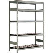 "5 Shelf High-Density Storage for Taper 50 - 60""Wx24""Dx87""H Light Gray"