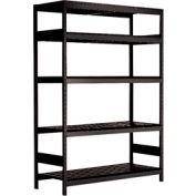 "5 Shelf High-Density Storage for Taper 50 - 60""Wx24""Dx87""H Black"