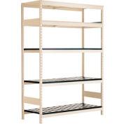 "5 Shelf High-Density Storage for Taper 50 - 72""Wx24""Dx87""H Beige"