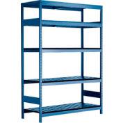 "5 Shelf High-Density Storage for 50 KM - 60""Wx18""Dx87""H Avalanche Blue"