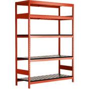 "5 Shelf High-Density Storage for 50 KM - 60""Wx18""Dx87""H Red"