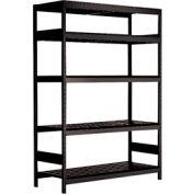"""5 Shelf High-Density Storage for 50 KM - 60""""Wx24""""Dx87""""H Black"""