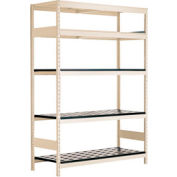 "5 Shelf High-Density Storage for 63 KM - 60""Wx24""Dx87""H Beige"