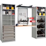"""Multipurpose Workstation for Taper 40 - 30""""Wx24""""Dx87""""H Light Gray"""