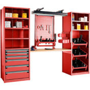 """Multipurpose Workstation for Taper 40 - 30""""Wx24""""Dx87""""H Red"""