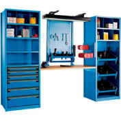"""Multipurpose Workstation for Taper 50 - 30""""Wx24""""Dx87""""H Avalanche Blue"""