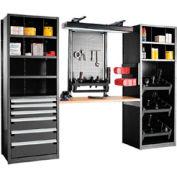 """Multipurpose Workstation for HSK 50 - 30""""Wx24""""Dx87""""H Black"""