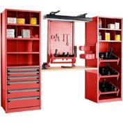 """Multipurpose Workstation for HSK 50 - 36""""Wx24""""Dx87""""H Red"""