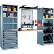 """Multipurpose Workstation for 50 KM - 36""""Wx24""""Dx87""""H Everest Blue"""