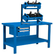 """Preparation and Repair Station for Taper 40 - 60""""Wx30""""Dx34""""H Avalanche Blue"""