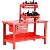 """Preparation and Repair Station for Taper 40 - 60""""Wx30""""Dx34""""H Red"""